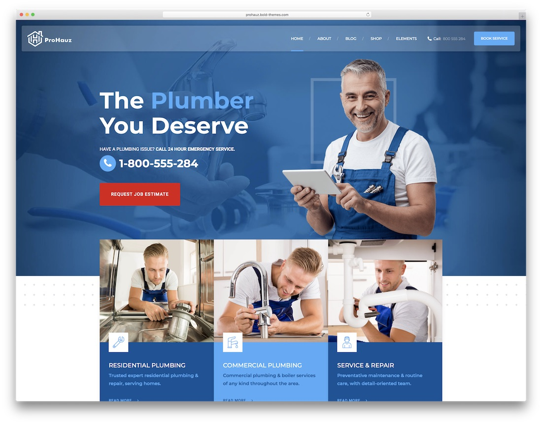 prohauz house maintenance services wordpress theme