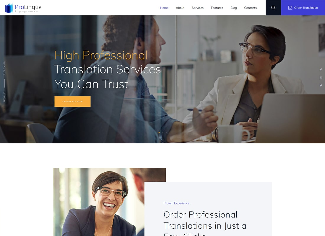ProLingua | Translation Services WordPress Theme