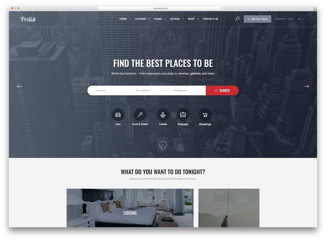 prolist directory website template