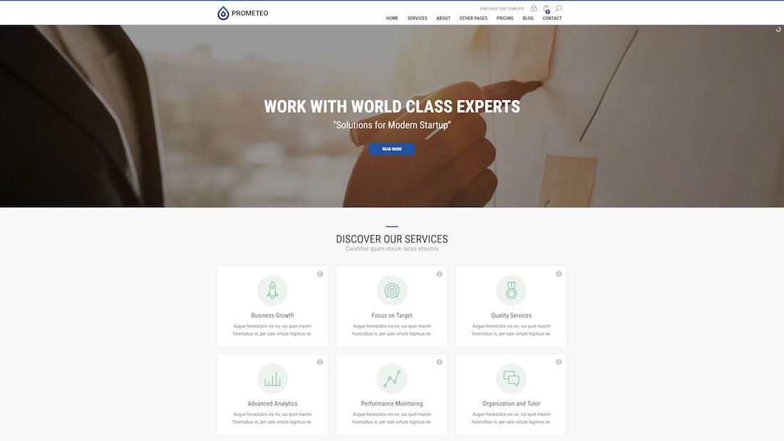 prometeo consulting website template
