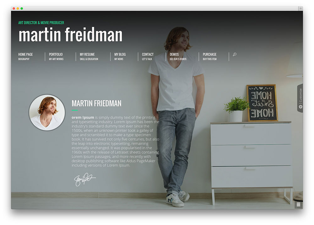 personal website ideas 30 best vcard wordpress themes 2016 for your