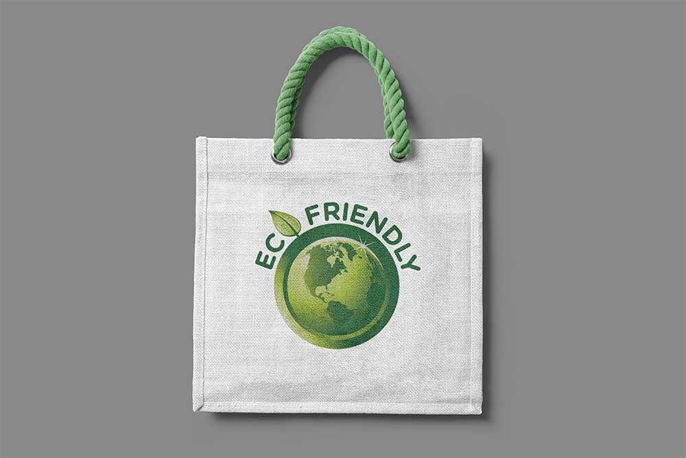 promotional jute bag mockup