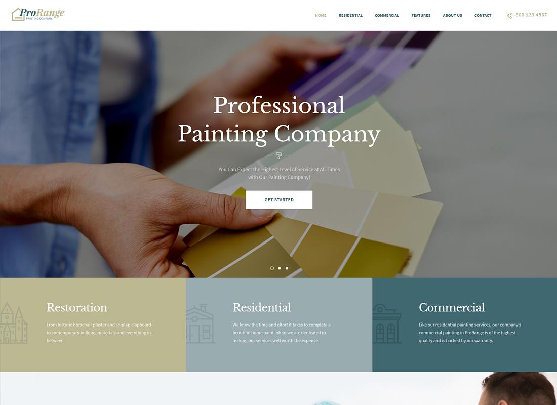 ProRange - Painting Company WordPress Theme
