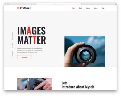 Proshoot Free Template