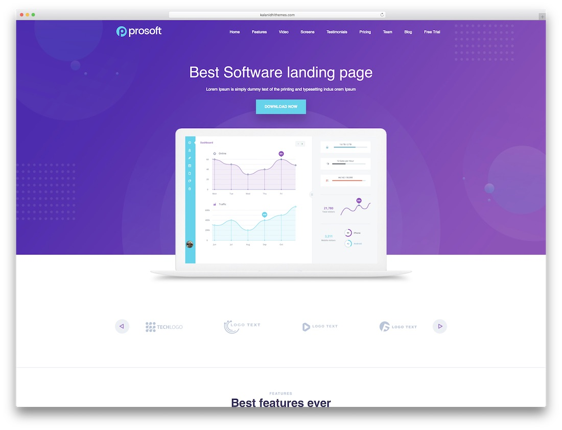 prosoft software company website template