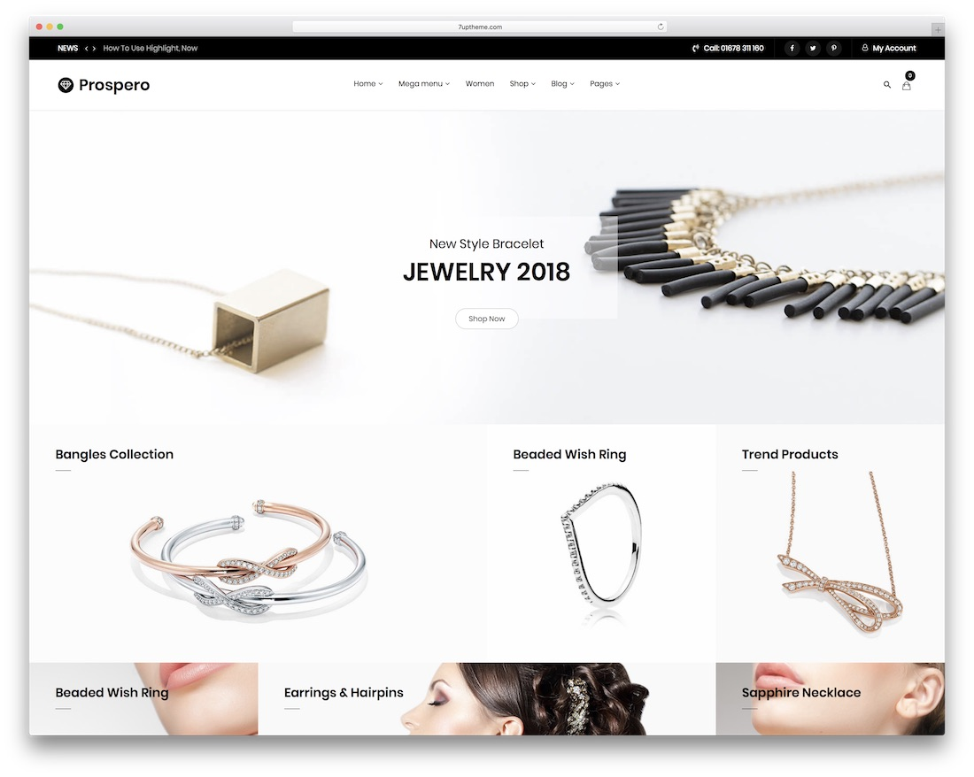 prospero jewelry wordpress theme