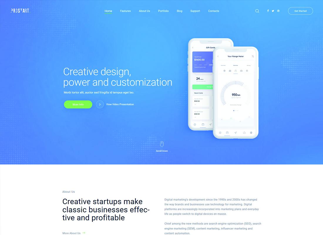 ProStart   Startup & Corporate WordPress Theme