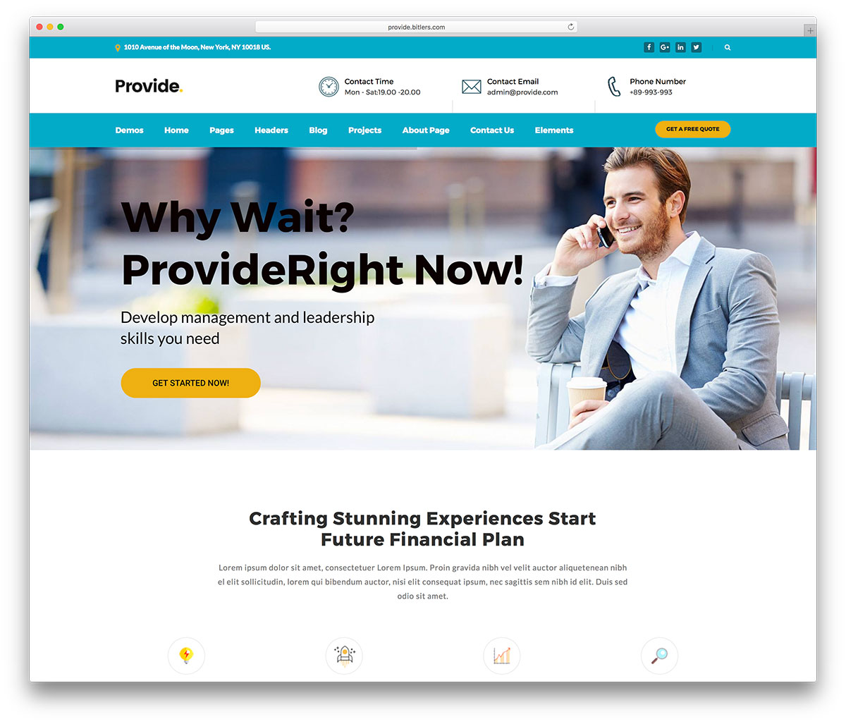 Provide Is A Professional Multipurpose WordPress Theme Focused On Consulting And Finance In All Levels Of Businesses Agencies