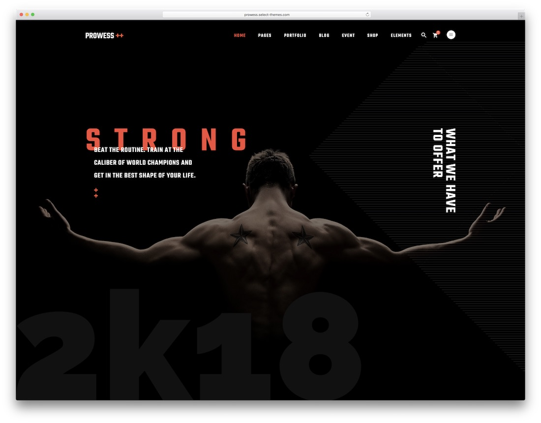 prowess crossfit wordpress theme