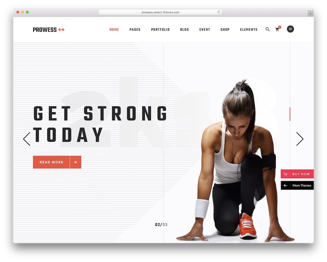prowess wordpress fitness theme