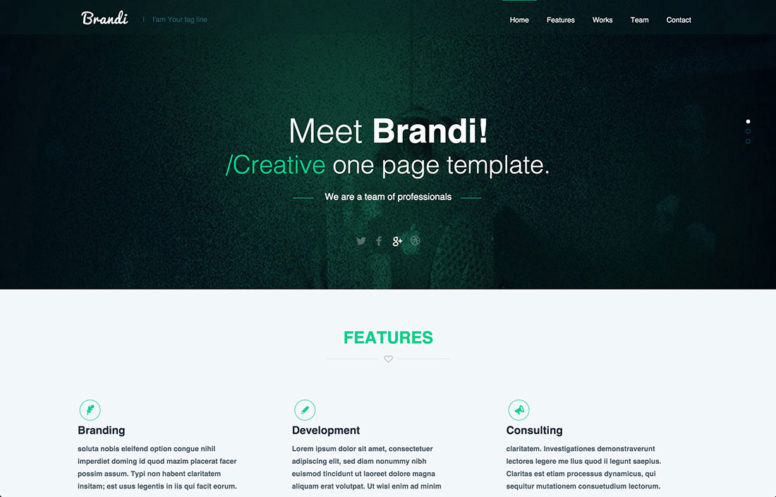 23 Free One-Page PSD Web Templates In 2017