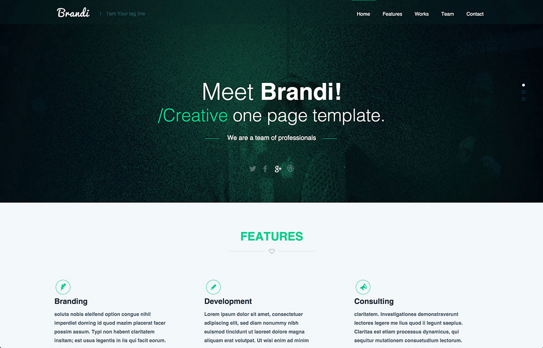 23 free one page psd web templates in 2017