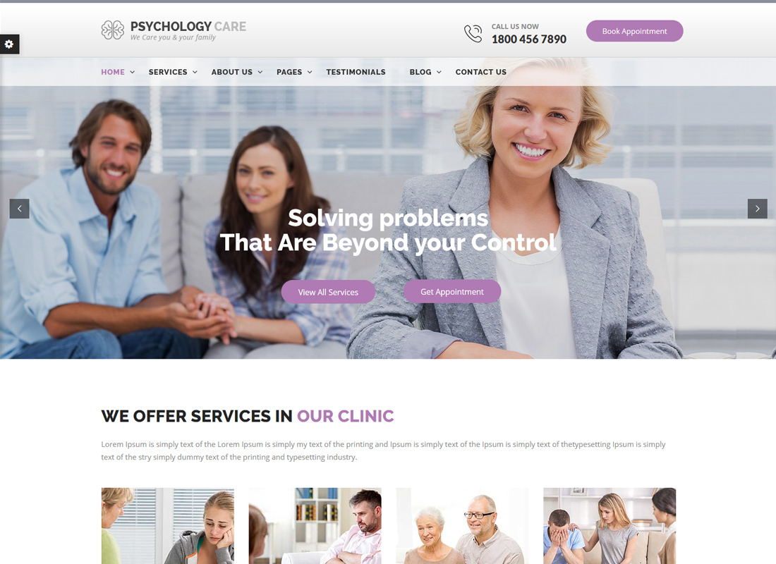 Psychology Care | Psychology & Counseling WordPress Theme