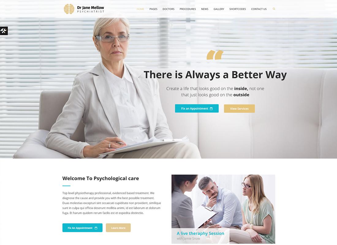 Psychology Therapist | Psychologist, Counseling WordPress Theme