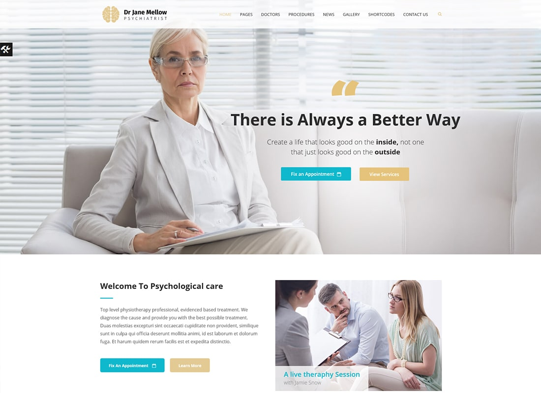 Psychology Therapist | Psychologist, Counseling Theme