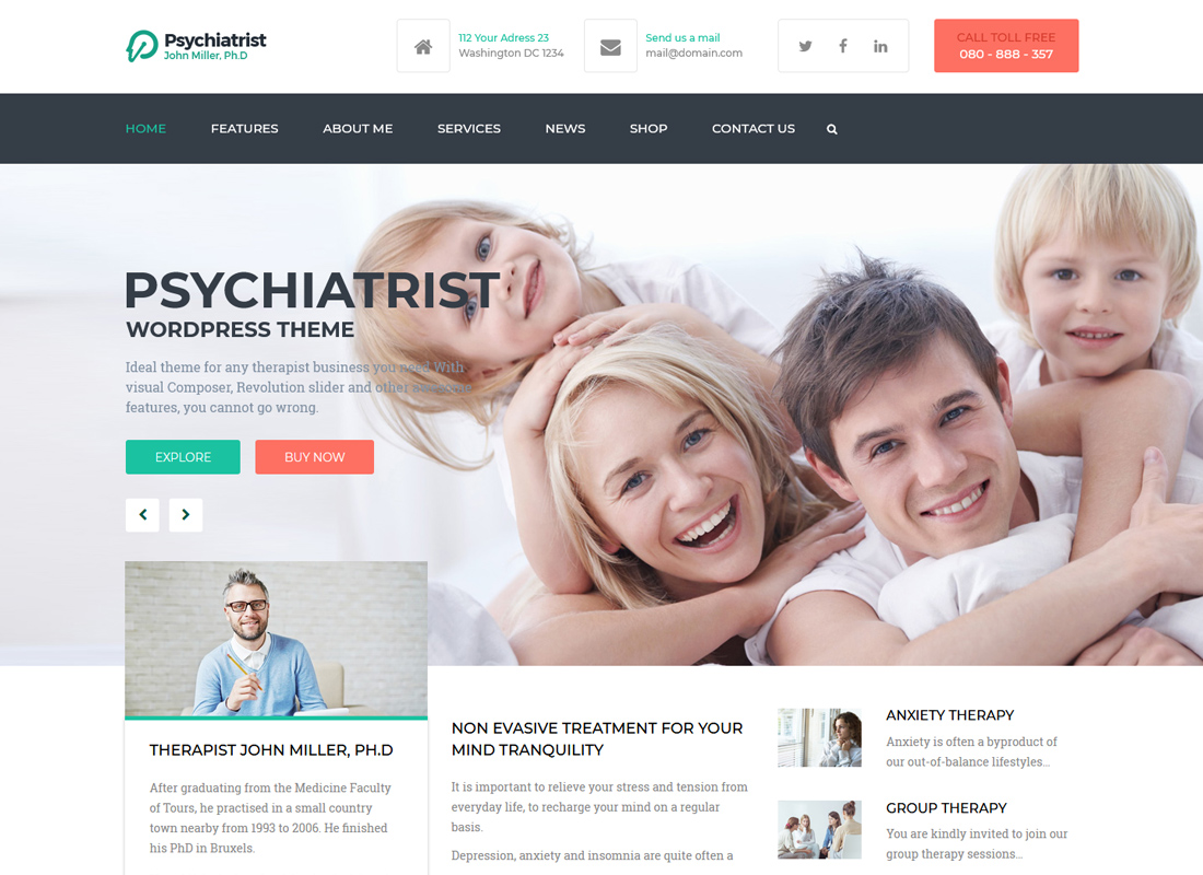 Psychiatrist | WordPress Theme