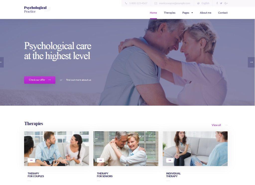 Psychology | WordPress theme for Psychological Practice, Psychologist and Psychiatrist