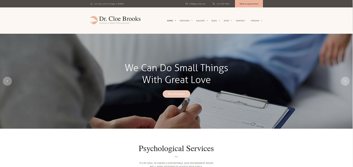 Psychology, Counseling & Medical WP Theme