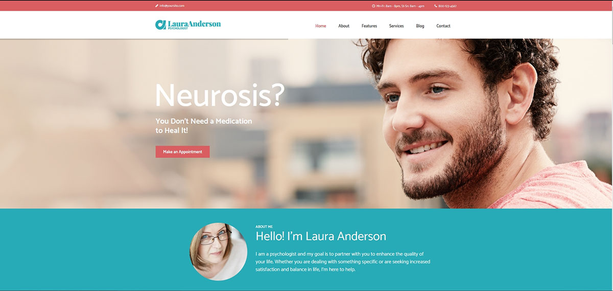 Psychologist - Therapy and Counseling WP Theme