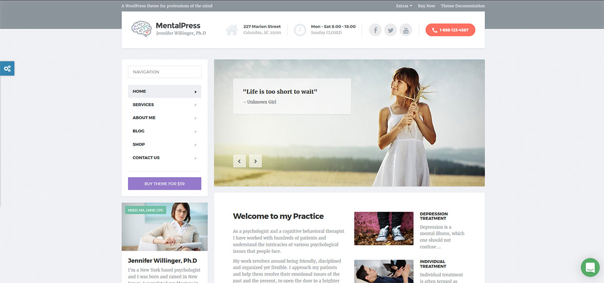 WP Theme for your Medical or Psychology Website