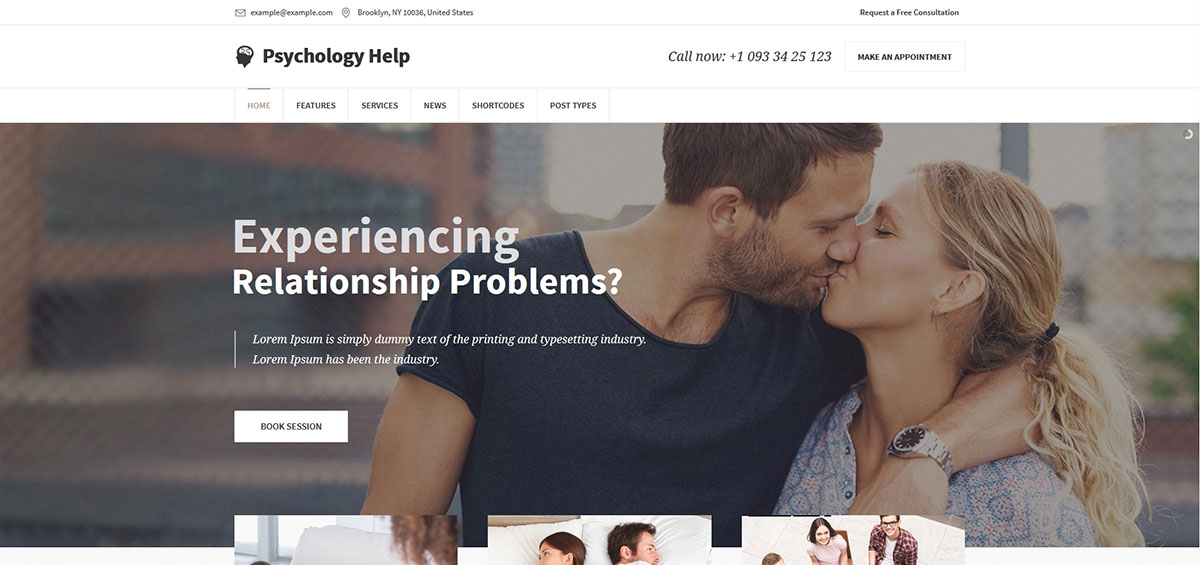 Medical WordPress Theme for Psychologist and Mental Therapy