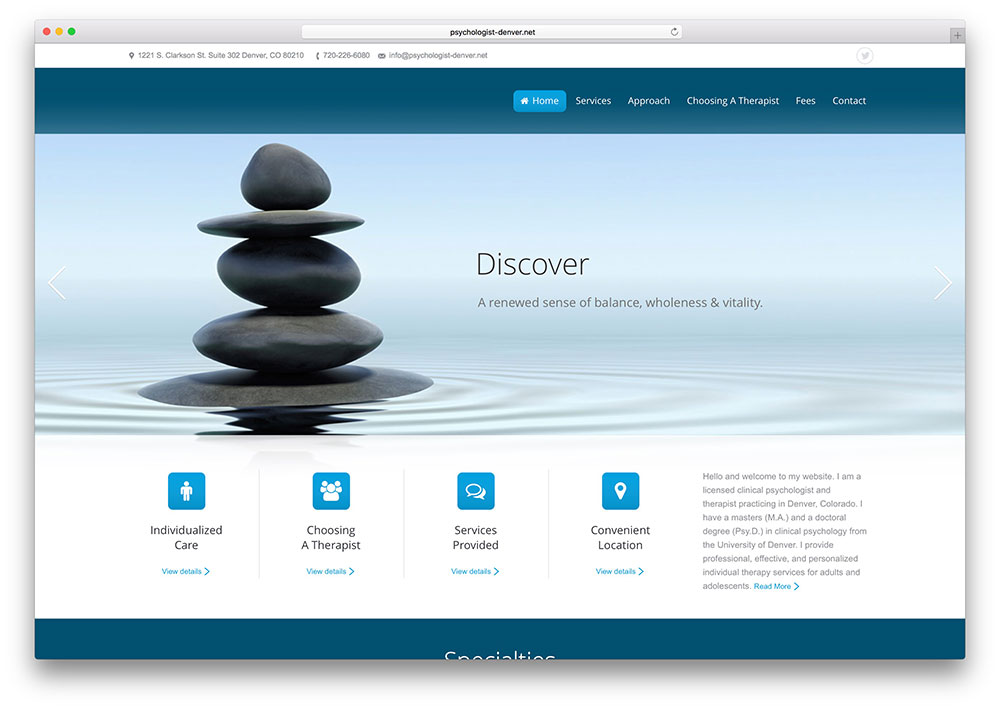 psychologist-denver-website-using-the7-wordpress-theme