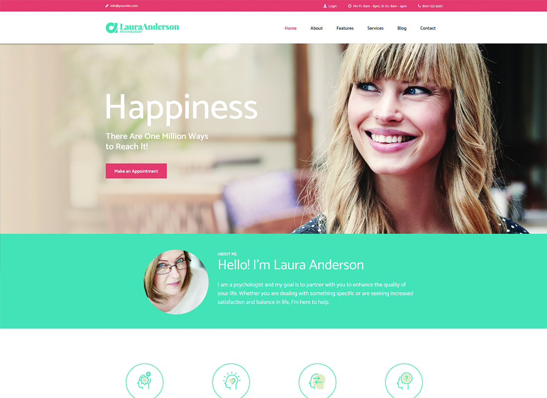 Psychologist - Therapy and Counseling WordPress Theme