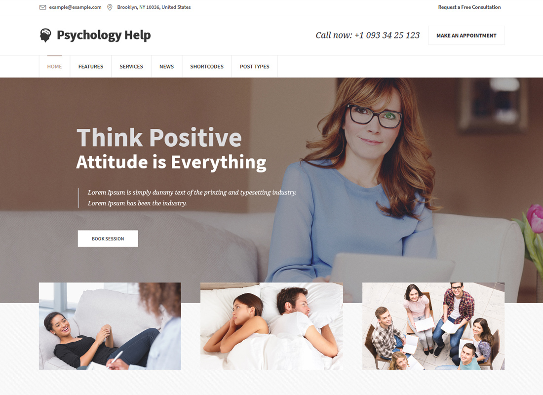 Psychology Help | Medical WordPress Theme for Psychologist and Mental Therapy