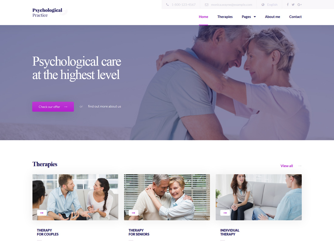 Psychology | WordPress theme for Psychological Practice, Psychologist and Psychiatrist