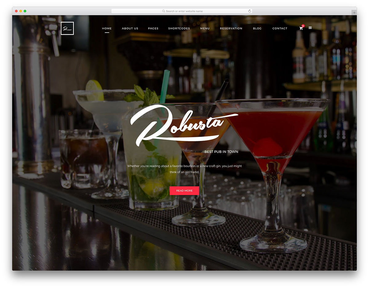 23 Por WordPress Themes For Bars Pubs 2019