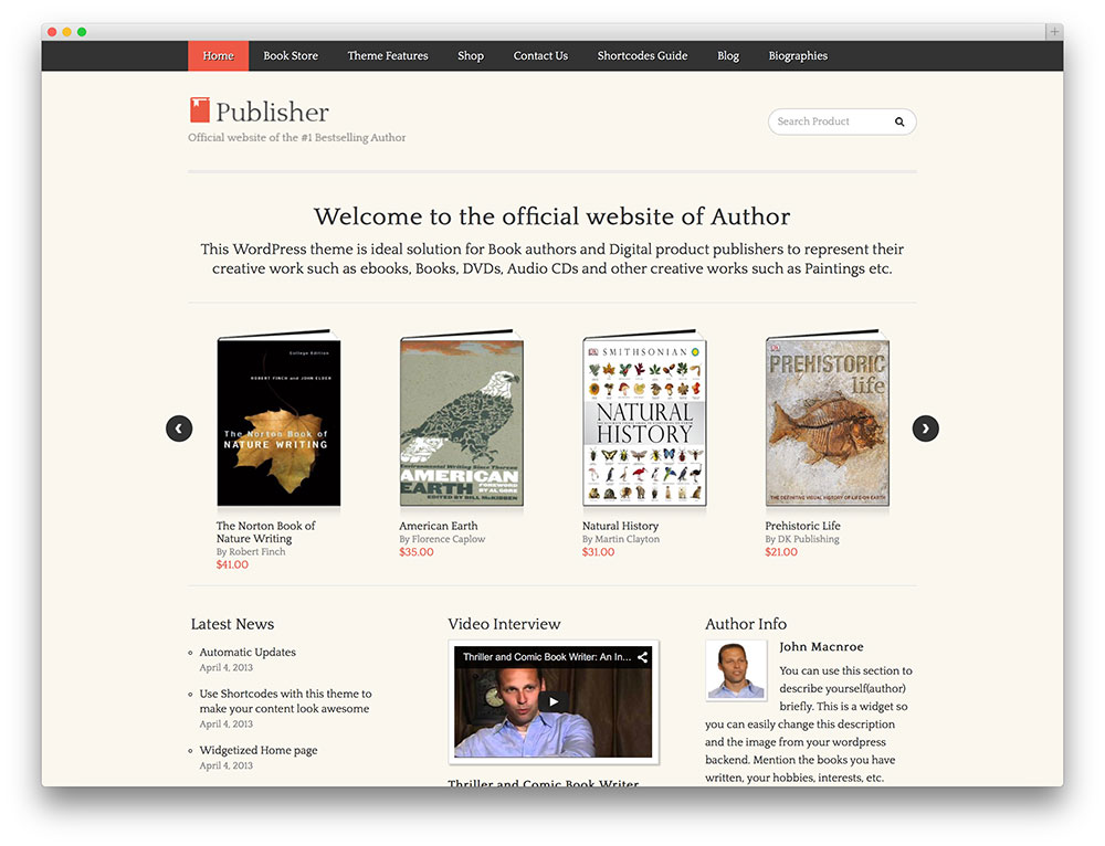 publisher - simple ecommerce theme