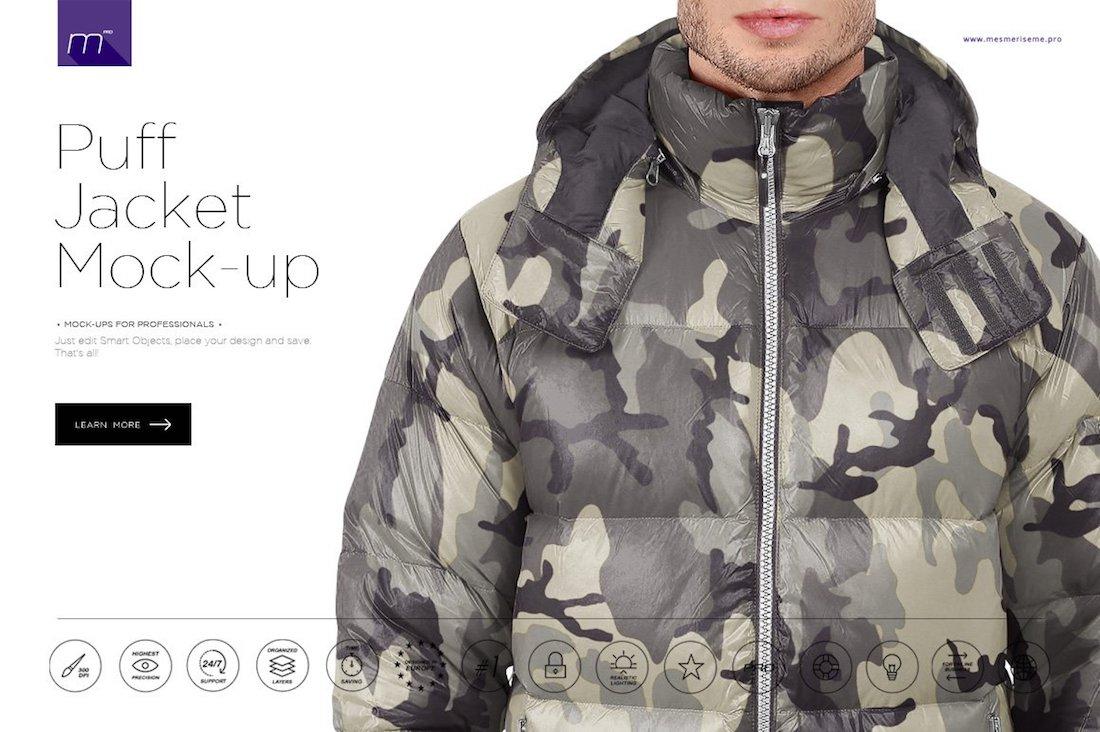 puff jacket mockup