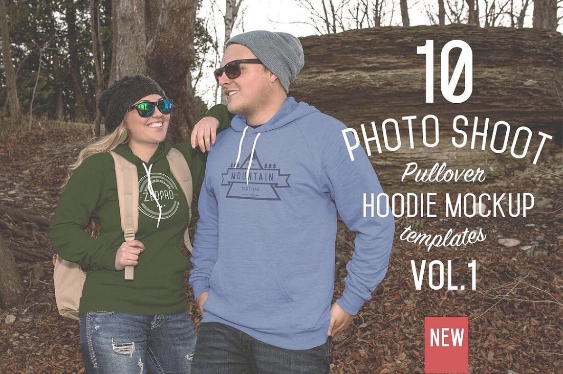 pullover hoodie mockups