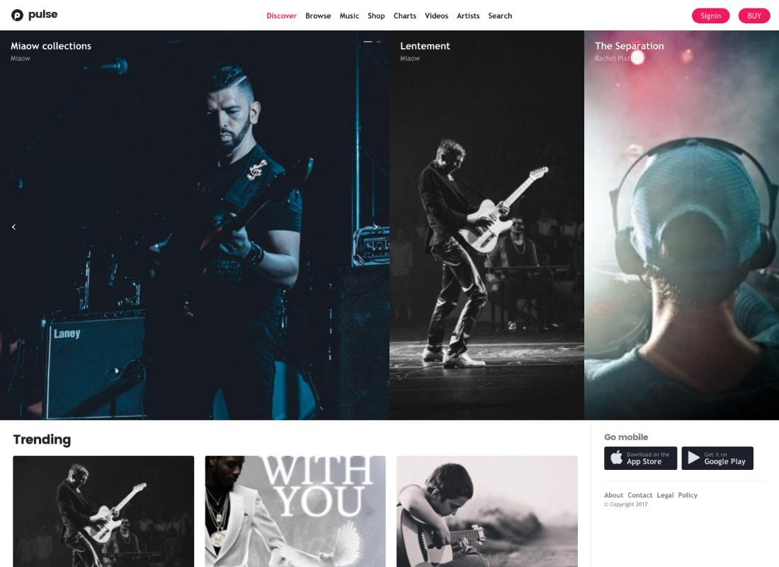 Pulse | Music, Audio, Radio WordPress Theme