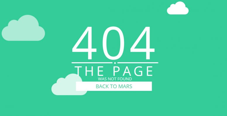 20 Best Easy To Use Free 404 Error Page Templates