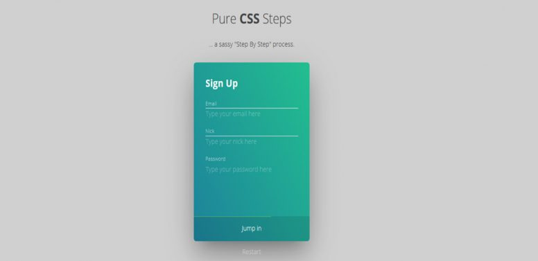 Pure-css-steps
