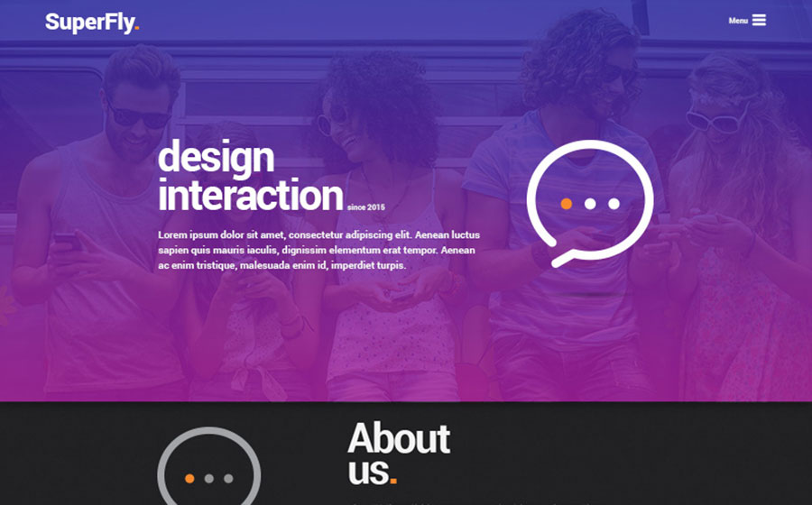 SuperFly - Creative PSD Template