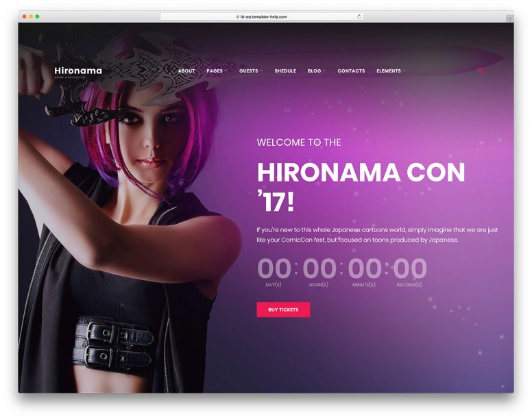 20 Awesome Purple Website Templates 2018