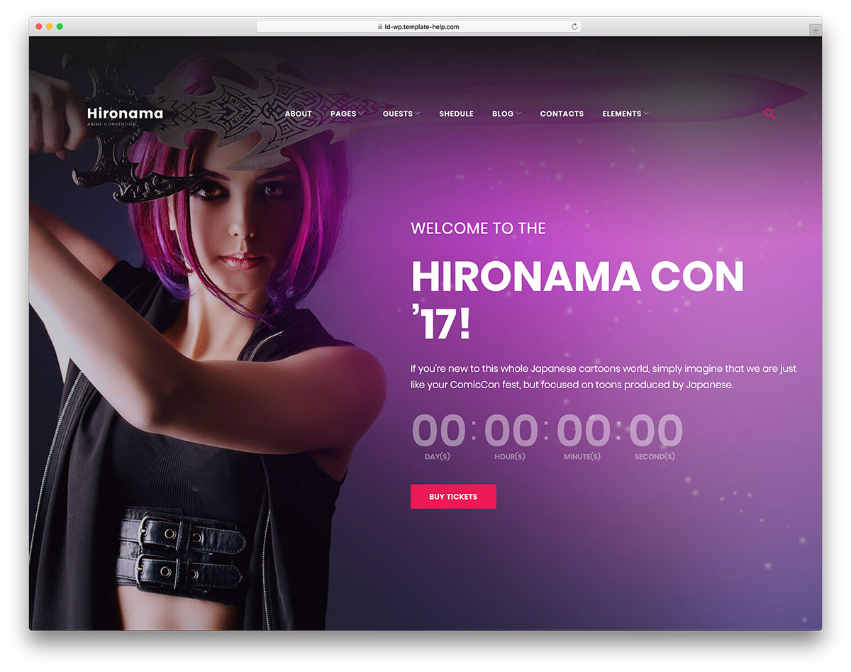 20 Awesome Purple Website Templates 2019