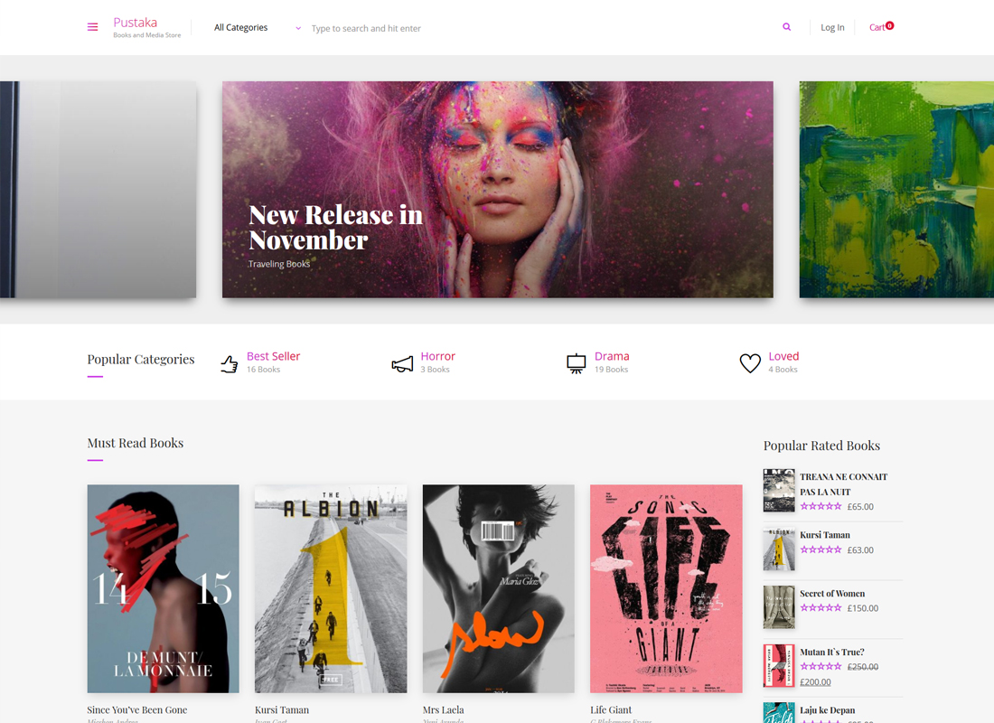Pustaka | WooCommerce Theme For Book Store
