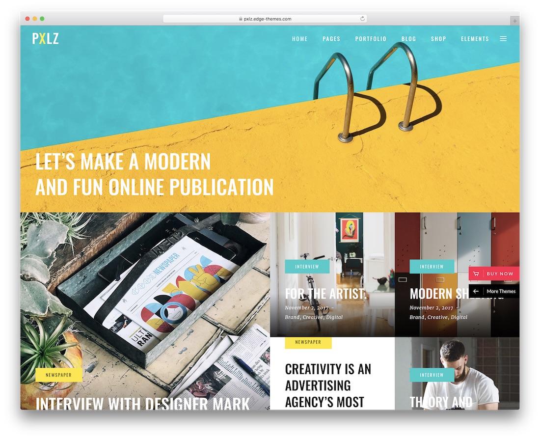 pxlz creative agency wordpress theme
