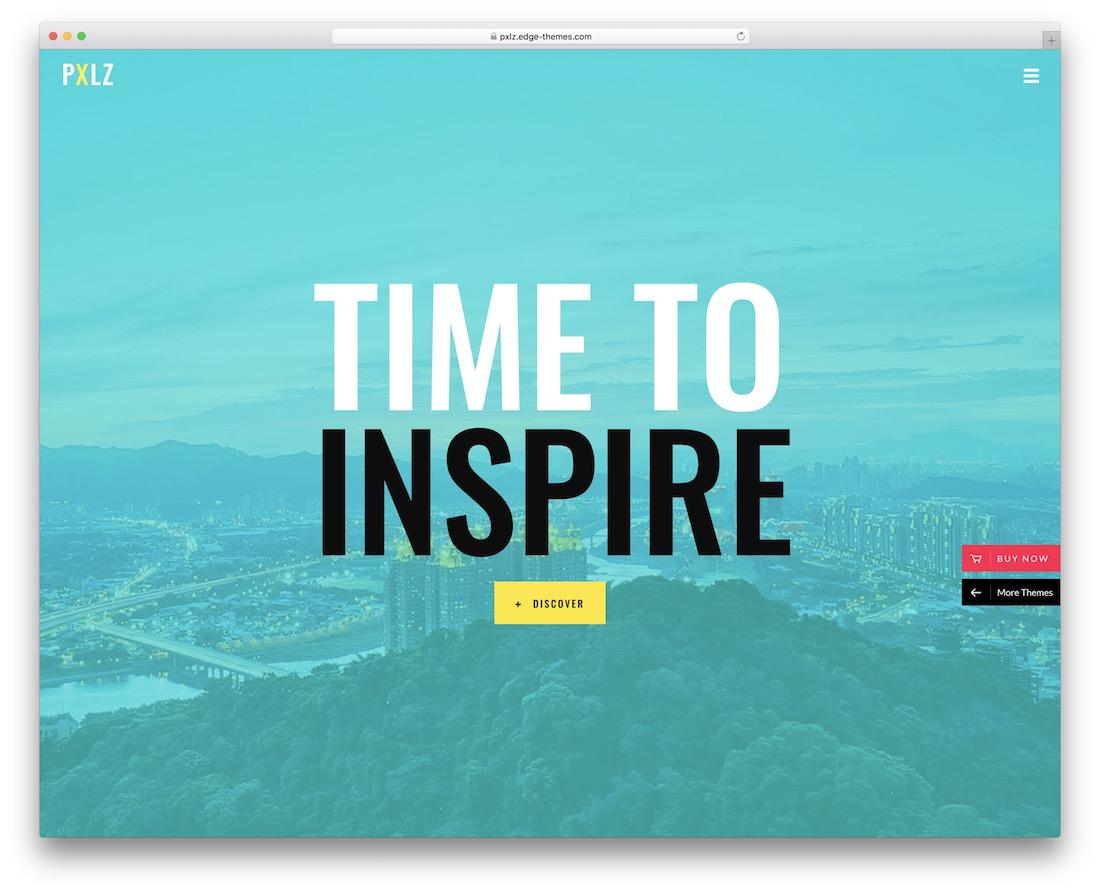 theme pxlz wordpress pour designer