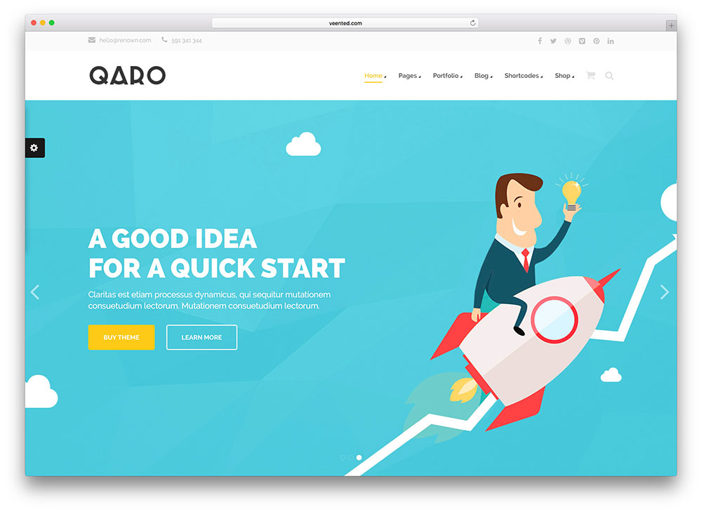 qaro - seo company wordpress theme