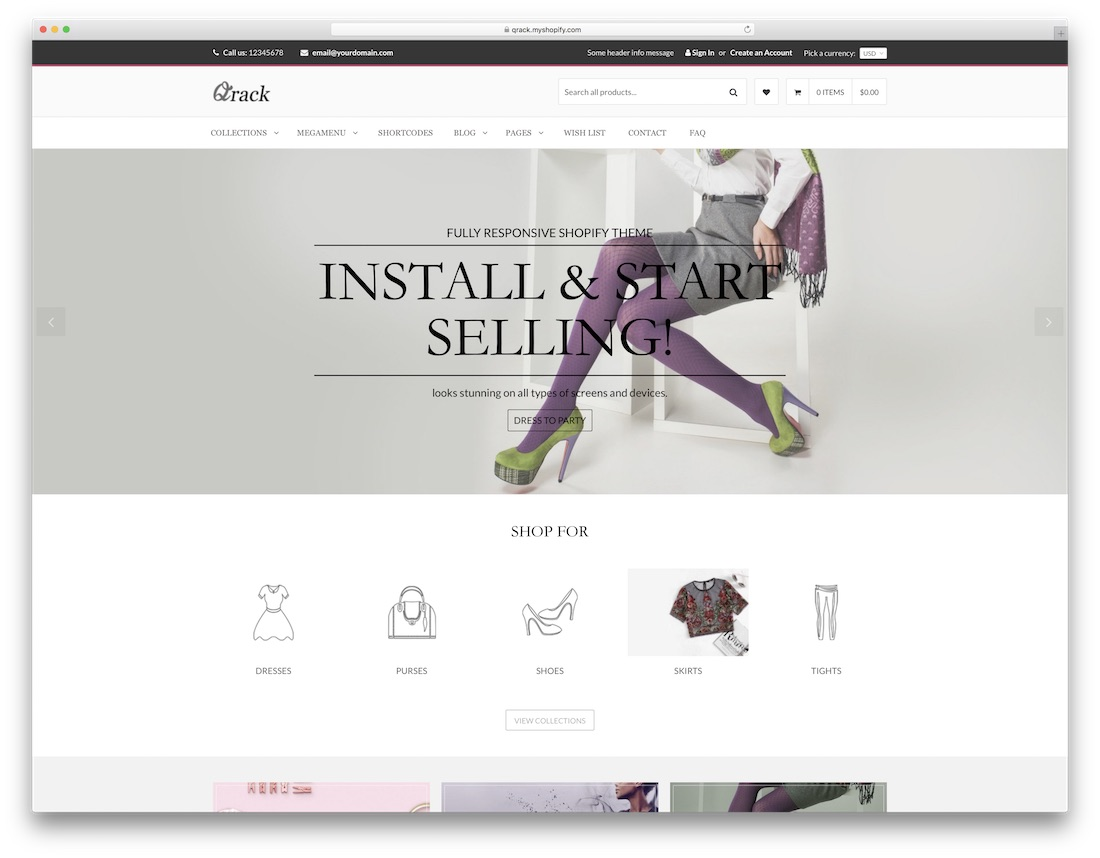 qrack fashion shopify theme