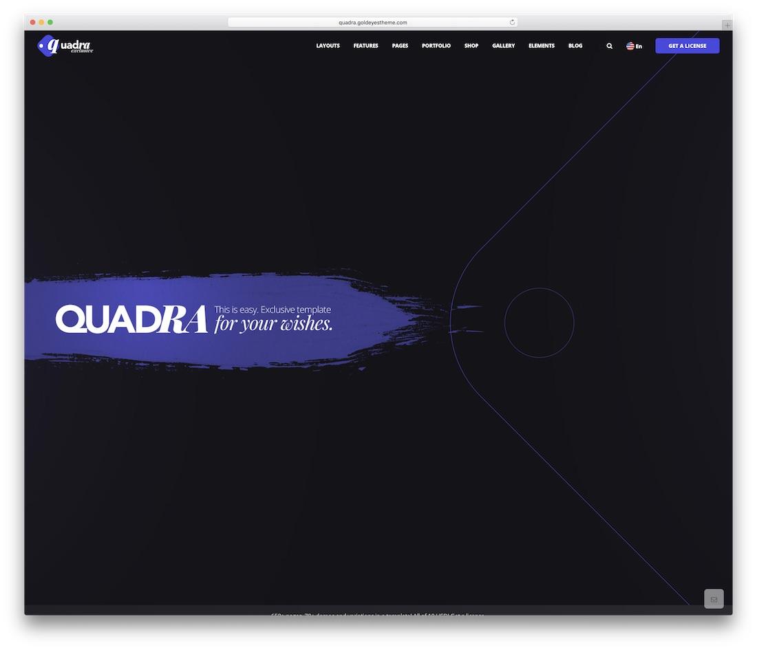 quadra business website template