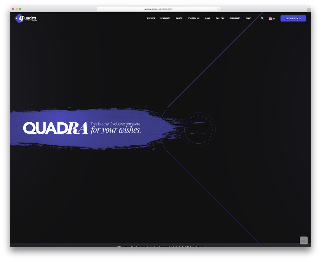 quadra creative bootstrap business website template