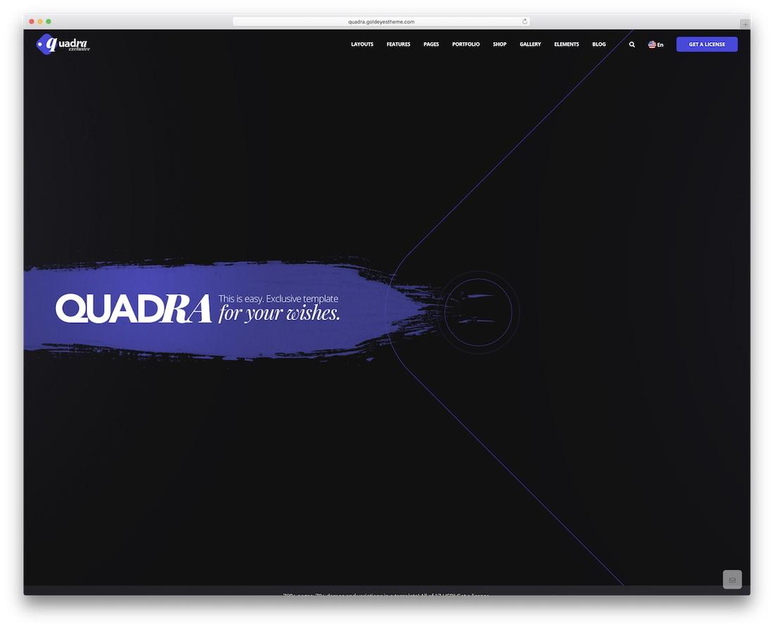 quadra creative bootstrap business website template