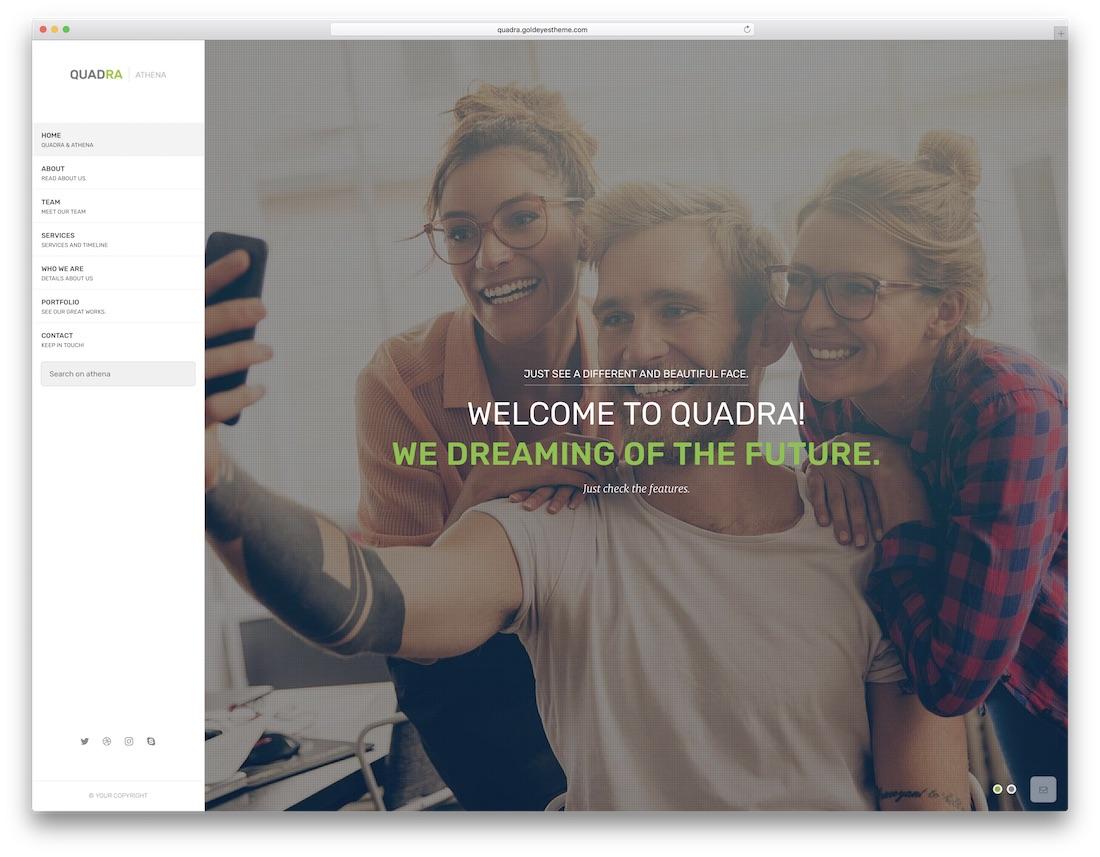 quadra marketing website template