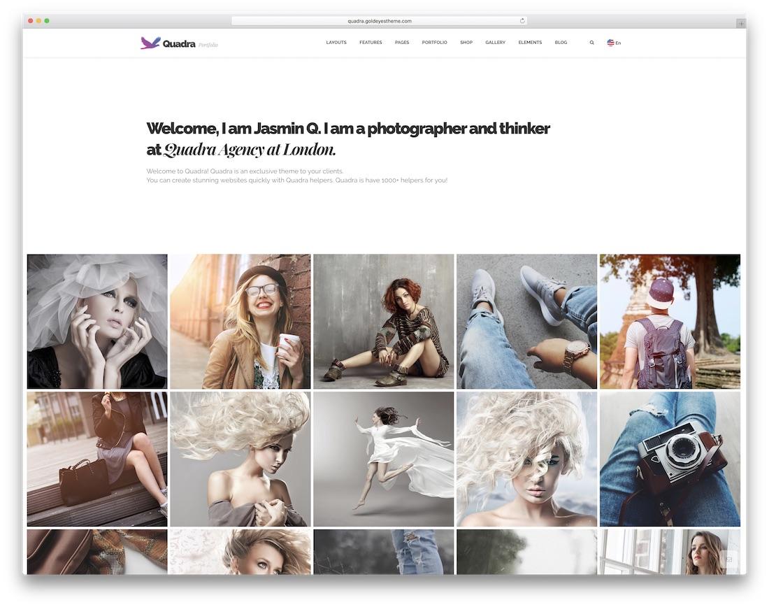 quadra portfolio website template