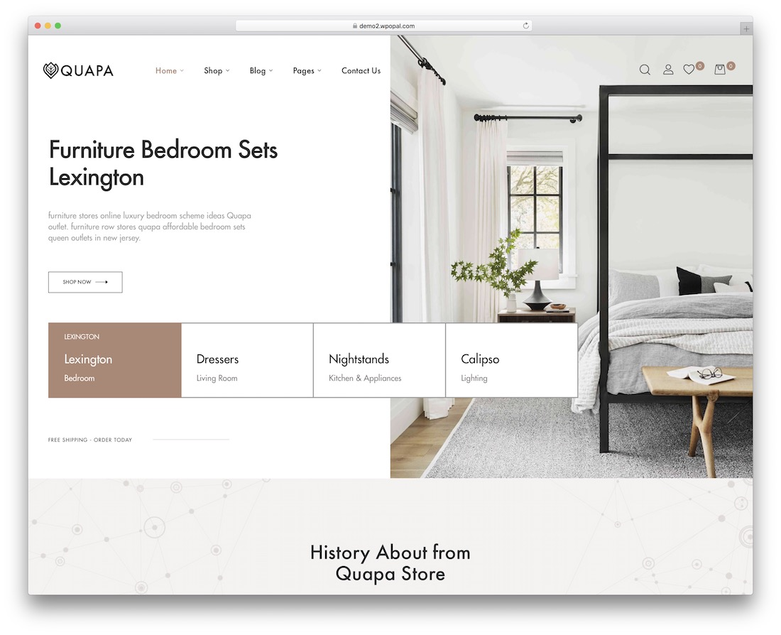 quapa furniture wordpress theme